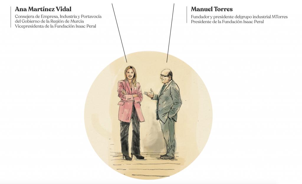 Ana Martínez Vidal y Manuel Torres Fundación Isaac Peral